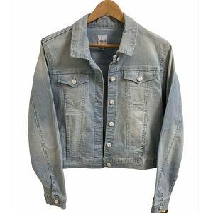 Kensie NWT! Striped Denim Jacket - Large